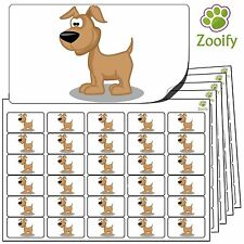 480 Dog Stickers (38 x 21mm) Quality Self Adhesive Animal Labels By Zooify.