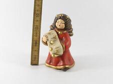 Thun === figürliche Keramik === Engel Engelchen singend rotes Kleid
