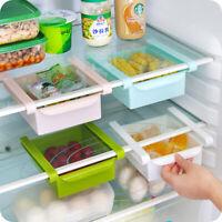 Food Plastic Organizer Box Kitchen Fridge Freezer Drawer Storage Rack Holder
