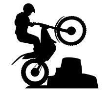 50cm TRIAL BIKE OFF ROAD ENDURO  BIKE VEHICLE VAN CAR STICKER DECAL