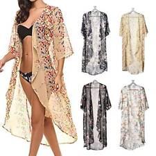 Summer Women Cardigan Chiffon Long Kimono Blouse Beach Wear Bikini Set Cover Up