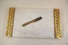 "Michael Aram Palm Weave Cheese Board w/ Knife, 17.25"" x 10"""