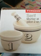 Brand New TYPHOON  2 IN 1 Porcelain Pestle and Mortar