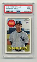 Gleyber Torres 2018 Topps heritage baseball #603 Yankees RC rookie Mint PSA 9