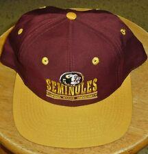 Florida State hat snapback NCAA 90's vintage cap w/ tag Seminoles FSU Deion Era