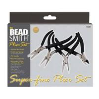 Beadsmith 4 Piece High Quality Super Fine Jewelry Plier & Cutter Set with Case
