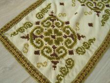 Vintage Hand Embroidered decorative woolen Table runner