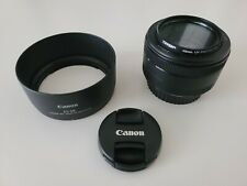 New ListingCanon Ef 50mm f/1.8 Stm lens w/ Tiffen Uv filter and Es-68 Hood