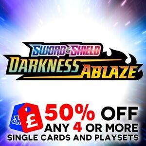 POKEMON SWORD & SHIELD DARKNESS ABLAZE SINGLE + TRAINER CARDS + PLAYSETS - SWSH3