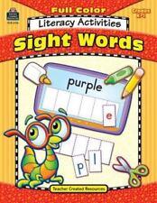 FULL COLOR LITERACY ACTIVITIES SIGHT WORDS TCR WORKBOOK Grade K1 HOMESCHOOL