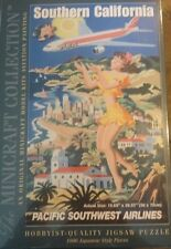 Pacific Southwest Airlines Vintage Travel Poster Puzzle Southern California used