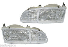 New Replacement Headlights Assembly PAIR / FOR 1994-95 FORD THUNDERBIRD