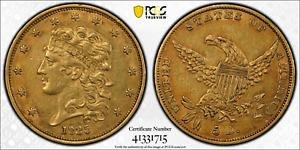Gold Half Eagle Classic Head USA 1835 PCGS XF-45 Stunning!