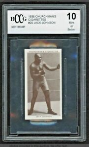 1938 Churchman's Cigarettes JACK JOHNSON Boxing Personalities #20 BCCG 10 RARE!!