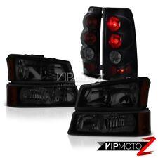 03 04 05 06 Silverado 1500 Darkest Smoke Tail Brake Lights Headlamps Assembly