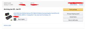 ASUS ROG Strix NVIDIA GeForce RTX 3080 Gaming OC - Order Confirmed