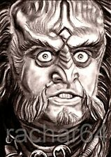 1/1 print ACEO sketch card STAR TREK Robert O'Reilly KLINGON GOWRON