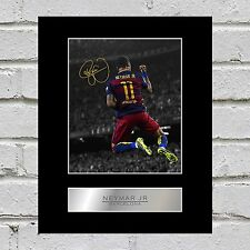 Neymar JR Mounted Photo Display FC Barcelone