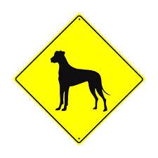 Great Dane Dog Symbol Crossing Animal Xing Metal Aluminum Novelty Sign 12x12