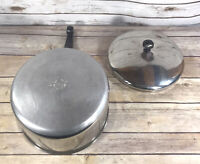 Vintage Farberware 4 QT Sauce Pan Aluminum Bottom Clad With Lid Made USA Pot