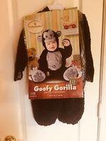 New Goofy Gorilla Monkey Child Infant Costume Size 6 - 12 Months