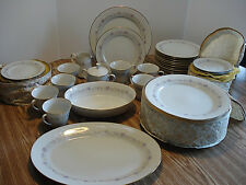 Noritake Lilac Time Dinner Set  fifty-nine pieces