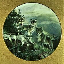 Guardian Of The High Country Plate Year of the Wolf Al Agnew Pack of Wolves Pine
