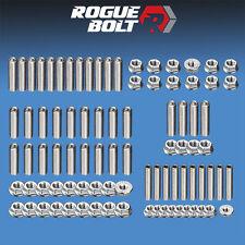 SBM SMALL BLOCK MOPAR ENGINE STUD KIT BOLTS STAINLESS STEEL 273 318 340 360 V8