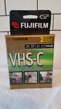 FujiFilm VHS-C TC-30 2 Pack VHS-C Tapes NEW SEALED