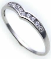 Damen Ring echt Weißgold 333 Zirkonia 8kt günstige Qualität Neu Weiß Gold