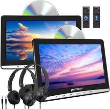 "PUMPKIN 10.1"" Dual Car Headrest DVD Players with 2 Headphones Support Suction..."
