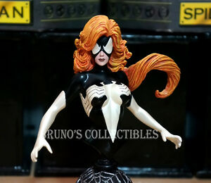 Bowen Designs Black Spider Woman Bust Marvel Statue Julia Carpenter Vertion