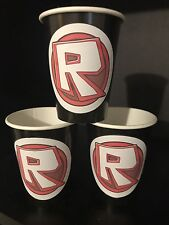 12 ROBLOX Game Birthday Party Paper Cups - BLACK