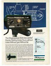 1975 SHAKESPEARE 606 Wondertroll Electric Trolling Boat Motor VTG PRINT AD