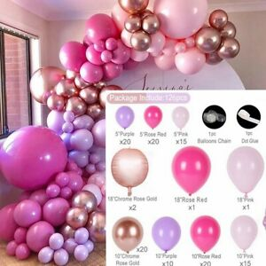 126 Pcs Rose Gold BALLOONS+ Arch Kit FOR Birthday, Baby Shower, Wedding & Party