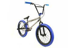 "Elite BMX 20"" Bike DESTRO Freestyle Raw Blue 2019 3-piece Cr-mo Crank X"