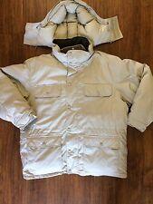 Cabela's Premier Northern Goose Down Men's Parka Hooded Jacket Light Khaki - 2XL