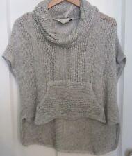 Anthropologie Saturday Sunday Womens Sweater XS White/Black Marled Cowl Neck