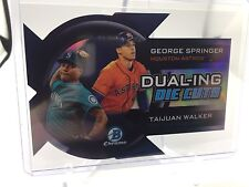 2014 Bowman Chrome Dualing Die Cut #DDC-SW George Springer rookie Walker