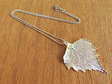 Silver Leaf Necklace, Silver Birch Leaf, Silver Leaf Pendant, Edel-Heid