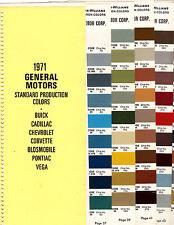 1971 CHEVROLET CORVETTE BUICK RIVIERA PONTIAC GTO OLDMOBILE PAINT CHIPS SW7