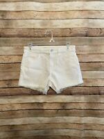 """Joes Jeans Womens The Ozzie 4"""" Cut Off Jean Shorts White Denim Size 25 New NWT"""