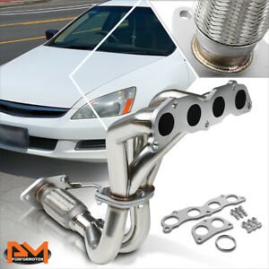For 03-07 Honda Accord 2.4 4CYL Stainless Steel 4-2-1 Exhaust Header Manifold
