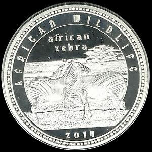 Zambia Wildlife Equus Grevyi Imperial Grevy Zebras 1000 K 2014 Unc Silver Coin