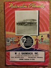 Vintage Nationaline Planalog catalog (35 pg) by W.J. Baumbach