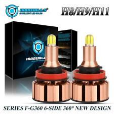 2000W 6Sides H11 H9 H8 LED Headlight Bulbs Kit Low Beam/Fog Light 300000LM HID