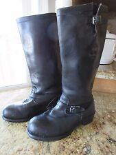 "Chippewa Engineer Motorcycle Boots 9.5 3E Double Buckle 17"" tall"