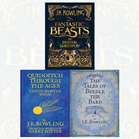 J K Rowling Collection Fantastic Beasts 3 Books Set NEW The Original Screenplay