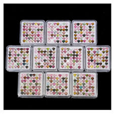 49 Pcs Natural Tourmaline 4mm Heart Top Quality Multi Color Untreated Gemstones