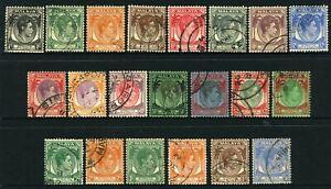 Malaya Straits Settlement 1937-41 KGVI set 1c to $5 (21) - F-VFU